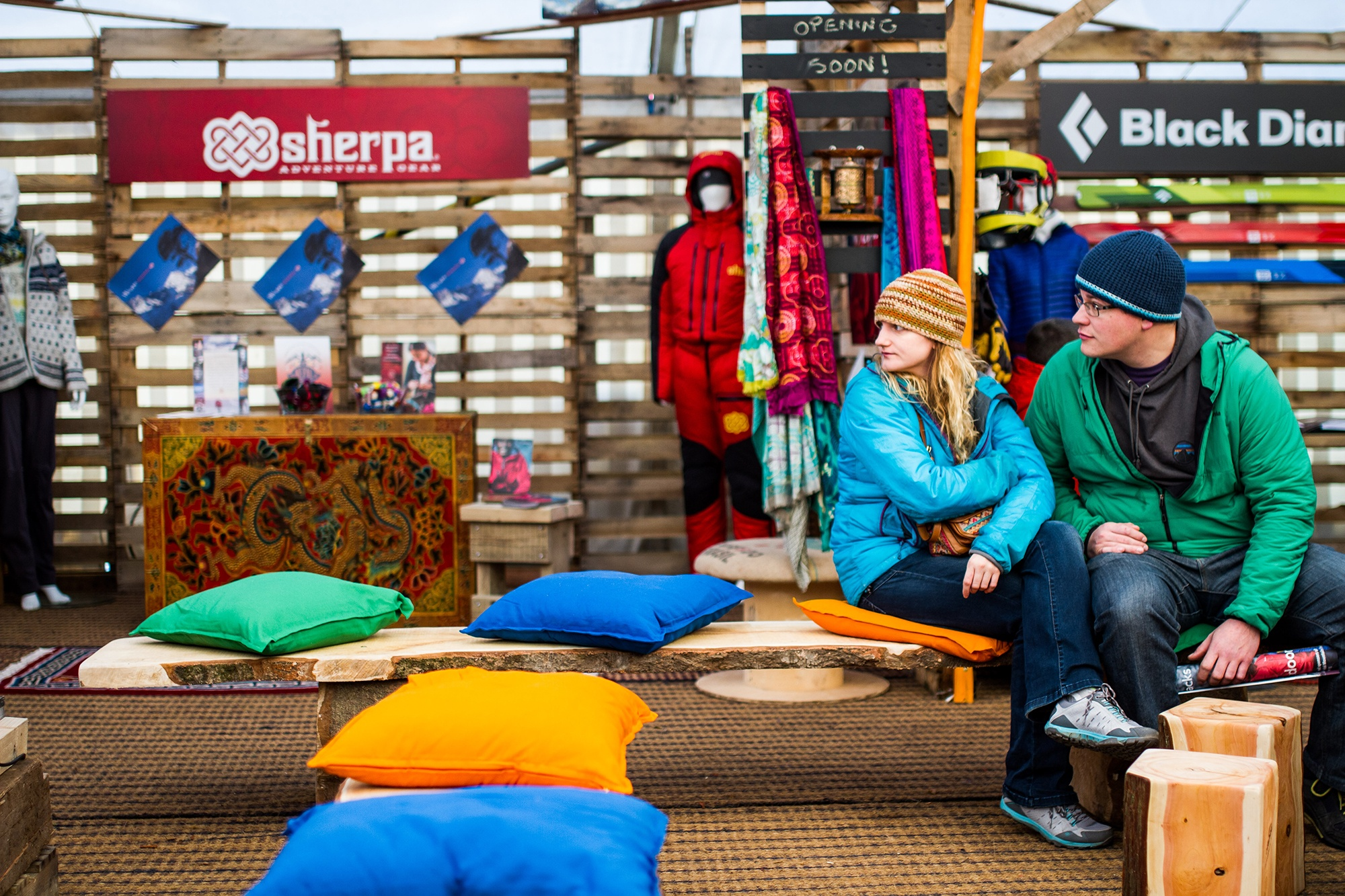 Festival Goers at Kendal Mountain Festival by Jessie Leong