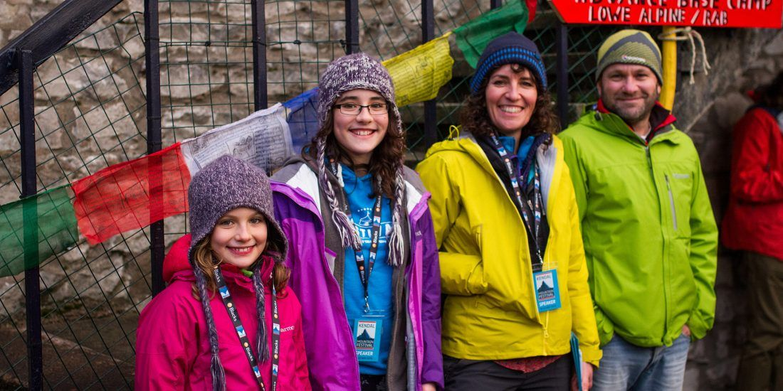 The Meek Family at Kendal Mountain Festival
