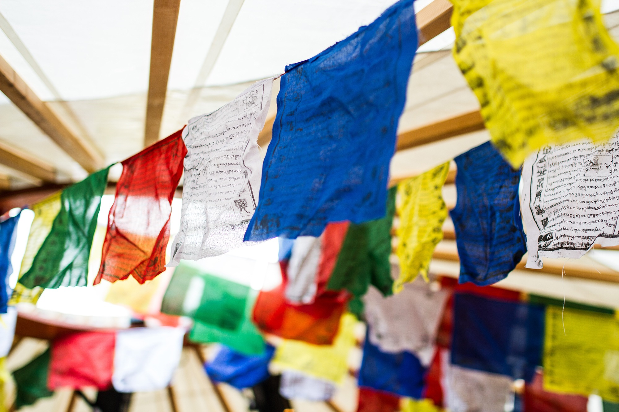 Prayer Flags at Kendal Mountain Festival by Jessie Leong