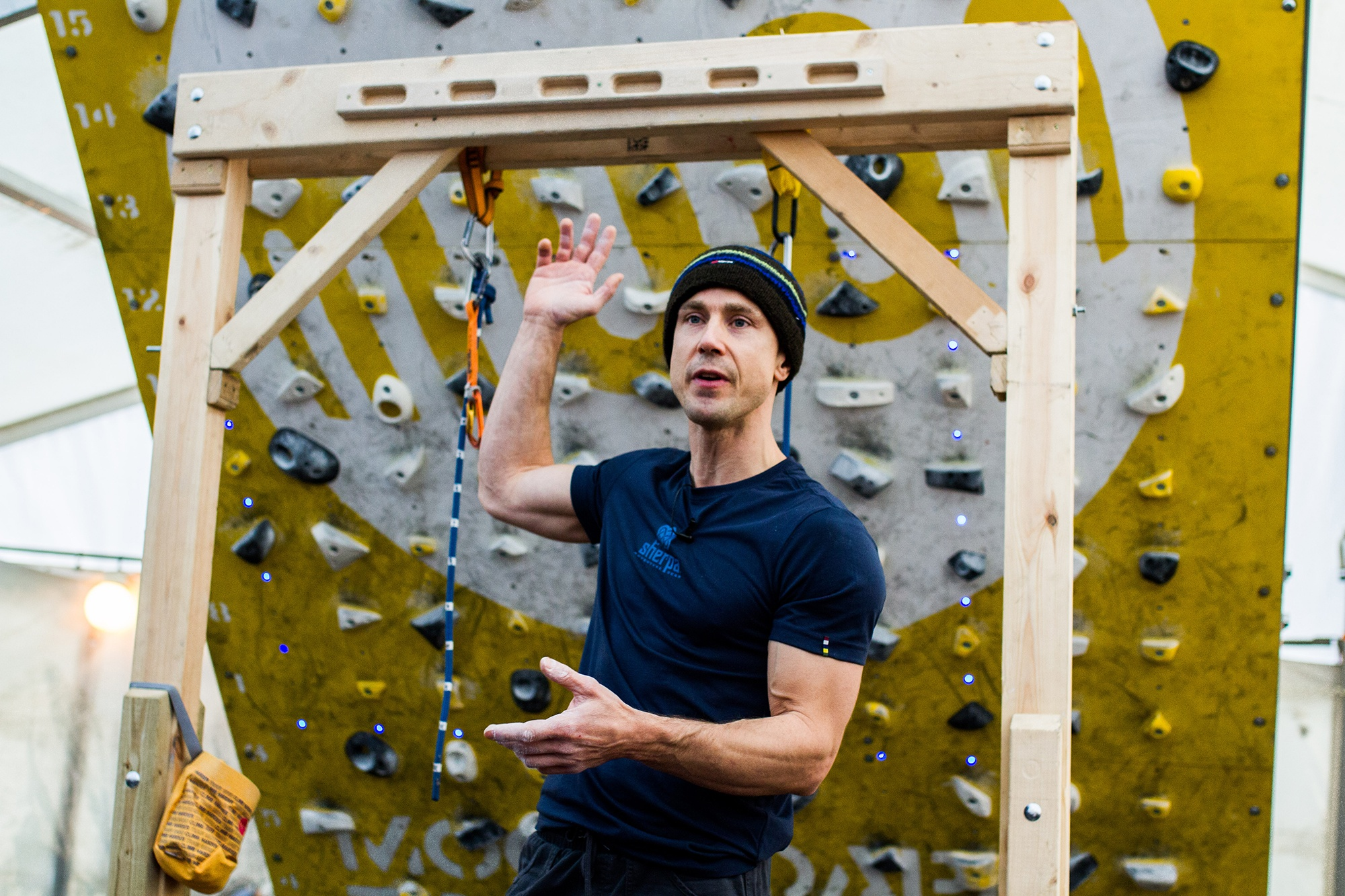 Ben Moon at Kendal Mountain Festival by Jessie Leong