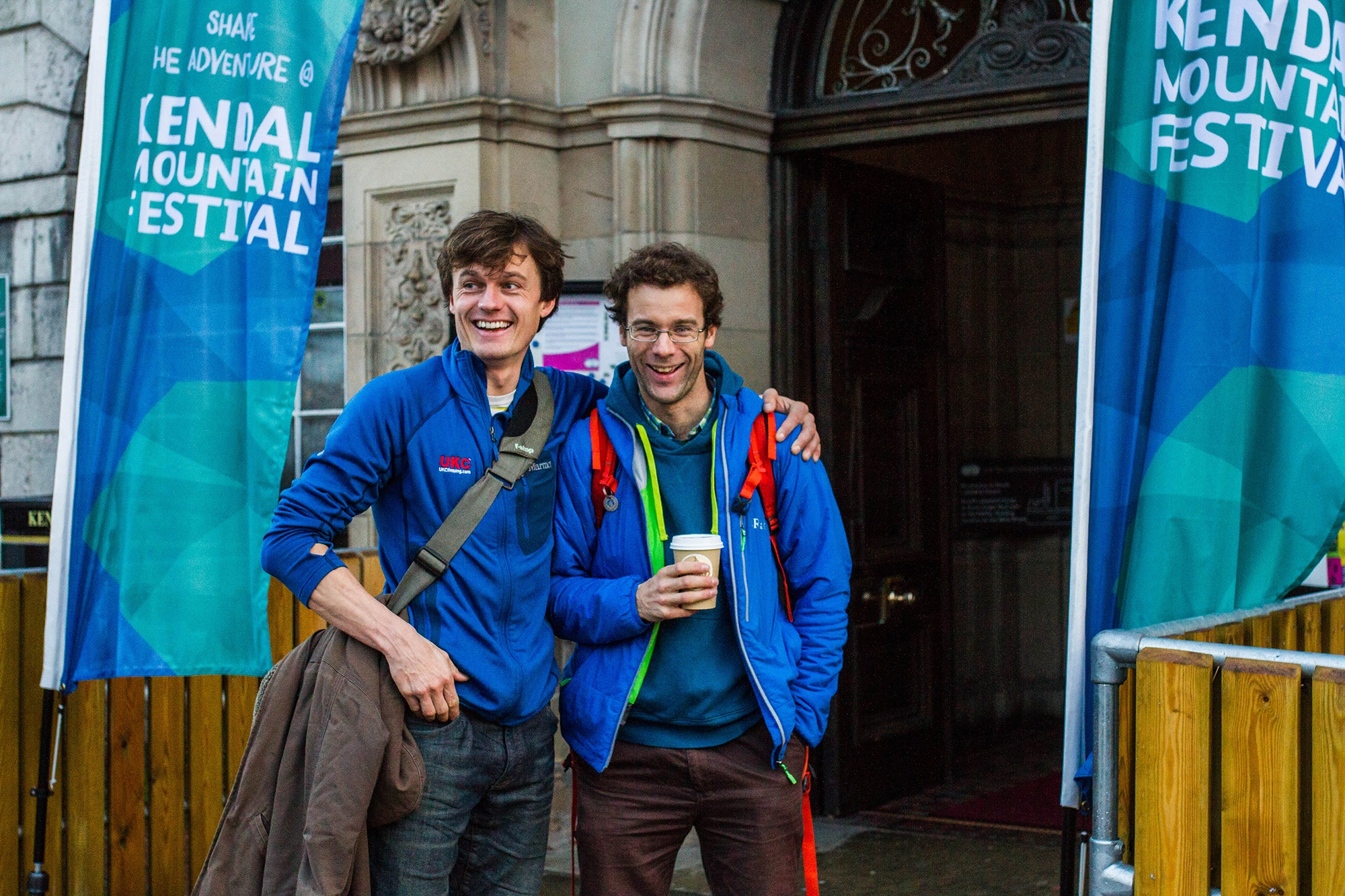 Ben Tibbetts and Rob Greenwood at Kendal Mountain Festival. Photography by Jessie Leong
