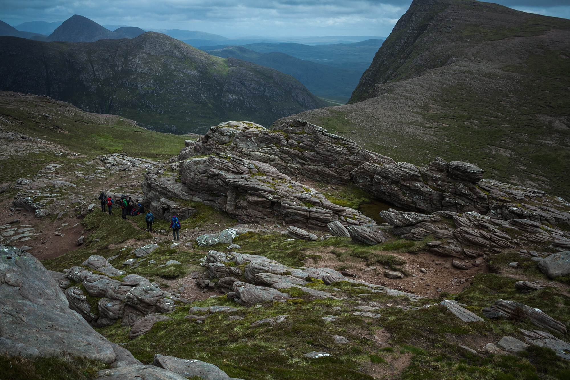 Photograph of The Seven Peaks of Coigach, shot by Jessie Leong