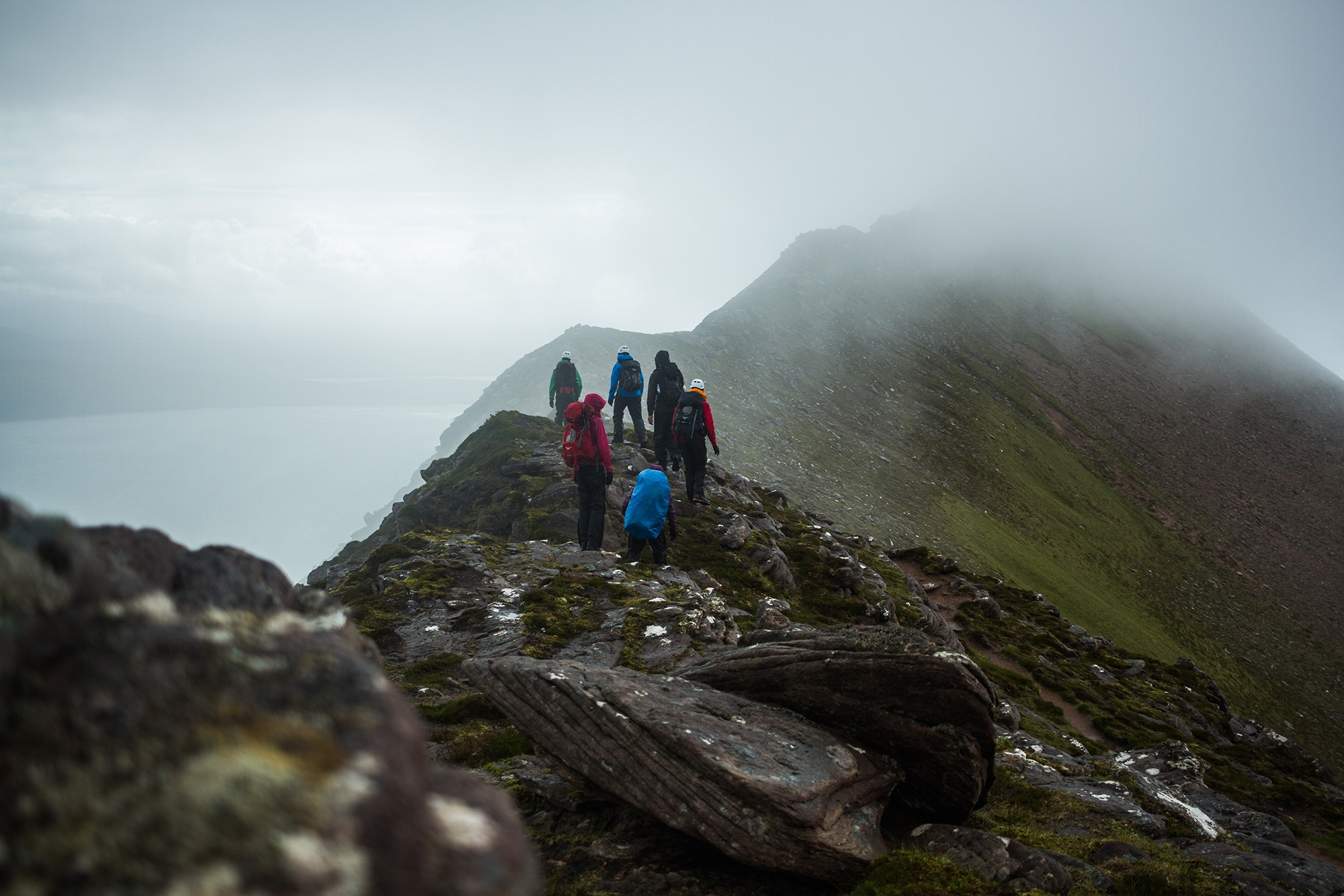 Final summit on Seven peaks of Coigach, shot by Jessie Leong