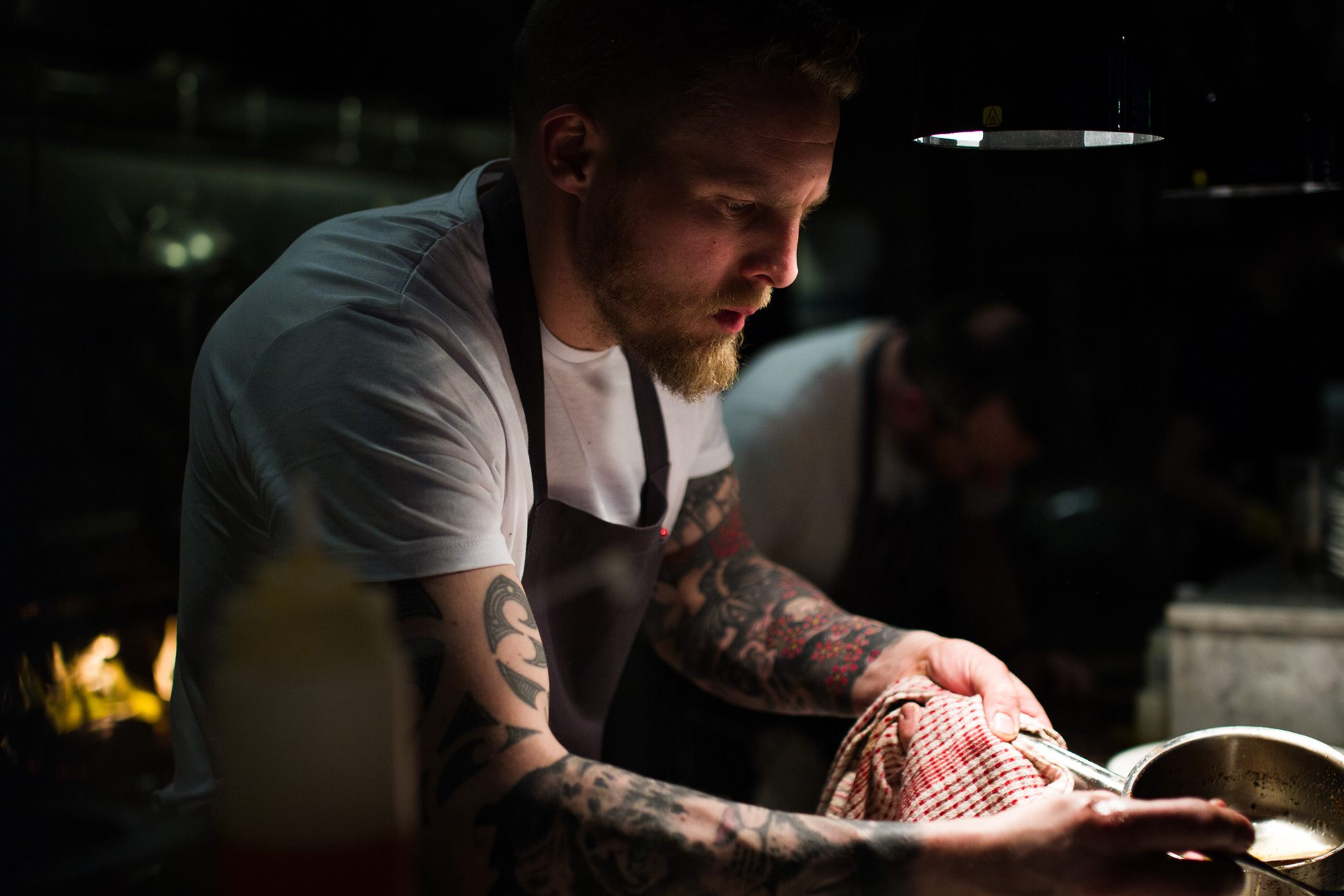 Head Chef, Smoking Goat Soho, photographed by Jessie Leong