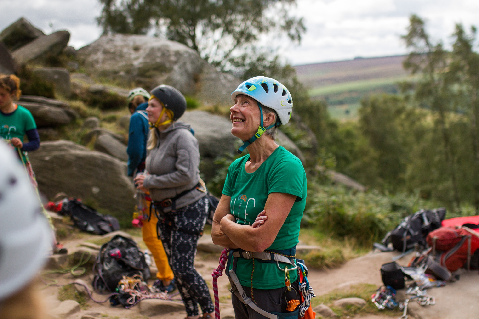Climber at Women's Trad Festival by Jessie Leong