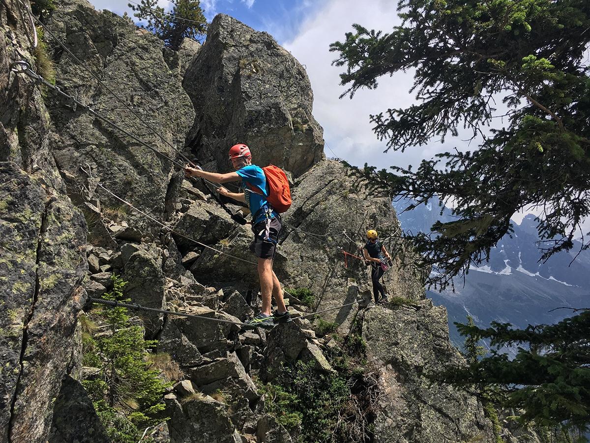 Via Ferrata near Flegere lift, Mont Blanc