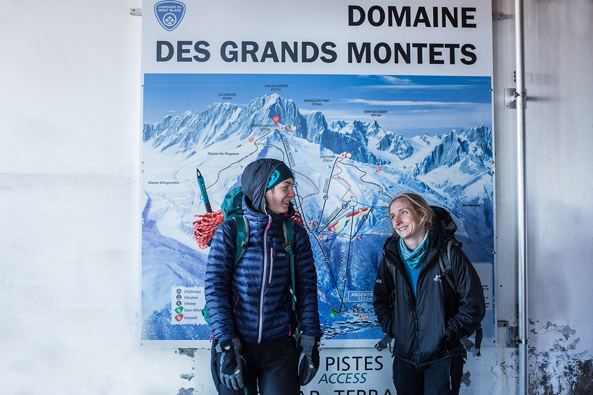 First photograph of the morning at the top of the Grand Montets lift